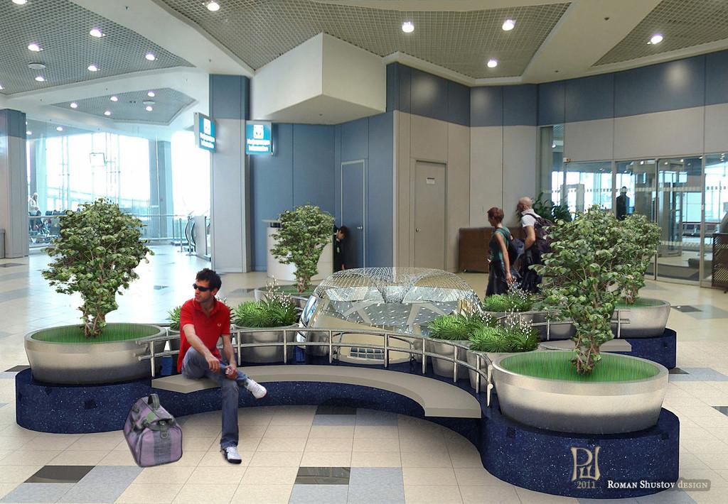Организация мест отдыха в аэропорту Домодедово
